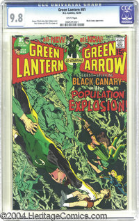 Green Lantern #81 (DC, 1970) CGC NM/MT 9.8 White pages. This issue's innovative cover by Neal Adams is from the heart of...