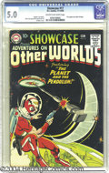 Silver Age (1956-1969):Science Fiction, Showcase #17 Adventures On Other Worlds (DC, 1958) CGC VG/FN 5.0Cream to off-white pages. Longtime DC hero Adam Strange mad...