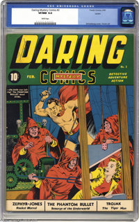 Daring Mystery Comics #2 Larson pedigree (Timely, 1940) CGC VF/NM 9.0 White pages. Gerber and Overstreet both call this...