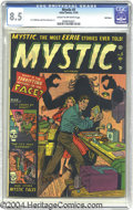 Golden Age (1938-1955):Horror, Mystic #5 Bethlehem pedigree (Atlas, 1951) CGC VF+ 8.5 Cream tooff-white pages. An eerie pre-Code Atlas cover, which asks t...