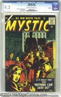 Golden Age (1938-1955):Horror, Mystic #60 Bethlehem pedigree (Atlas, 1957) CGC NM- 9.2 Off-whiteto white pages. John Severin cover, interior art by Al Wil...