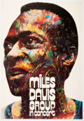 Music Memorabilia:Posters, Miles Davis 1971 Psychedelic German Tour-Blank Concert Poster by Gunther Kieser....