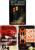Books:Mystery & Detective Fiction, Leslie Cargill. Group of Three Mystery Novels from Herbert Jenkins Ltd. London: [1940]- [N.D. but 1948]. First editions.... (Total: 3 Items)