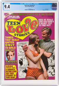 Teen Love Stories #1 (Warren, 1967) CGC NM 9.4 Off-white to white pages