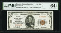 National Bank Notes:Massachusetts, Boston, MA - $5 1929 Ty. 1 The First National Bank Ch. # 200 PMG Choice Uncirculated 64 EPQ.. ...