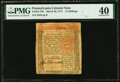 Colonial Notes:Pennsylvania, Pennsylvania March 20, 1771 15 Shillings Fr. PA-148 PMG Extremely Fine 40.. ...