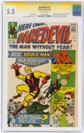 Silver Age (1956-1969):Superhero, Daredevil #1 Signature Series: Stan Lee (Marvel, 1964) CGC FN- 5.5 Off-white pages....