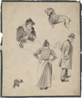Works on Paper, Joseph Christian Leyendecker (American, 1874-1951). Group of Seven Sketches. Mixed media on board and paper. ... (Total: 7 Items)
