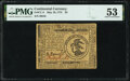 Continental Currency May 10, 1775 $3 PMG About Uncirculated 53