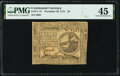 Continental Currency November 29, 1775 $2 PMG Choice Extremely Fine 45