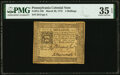 Colonial Notes:Pennsylvania, Pennsylvania March 20, 1773 4 Shillings Fr. PA-159 PMG Choice Very Fine 35 EPQ.. ...