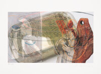 Albert Oehlen (b. 1954) Aus dem nachlass, 2006 Lithograph in colors on Somerset paper 9-7/8 x 13