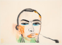 Francesco Clemente (b. 1952) Untitled, 1984 Woodcut in colors on paper 16-3/4 x 22-1/2 inches (42