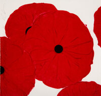 Donald K. Sultan (b. 1951) Red Poppies, 2012 Screenprint in colors on wove paper 19 x 19-3/4 inch