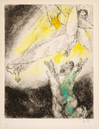 Marc Chagall (1887-1985) Isaiah's Vision, pl. 91 from the Bible series, 1958 Etching and