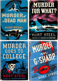 Books:Mystery & Detective Fiction, Kurt Steel. Group of Four 1930s Hank Heyer Mysteries. Indianapolis and New York: Bobbs-Merrill, [1935]-[1937]. Including thr... (Total: 4 )
