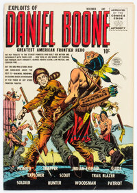 Exploits of Daniel Boone #1 (Quality, 1955) Condition: FN/VF