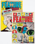 Golden Age (1938-1955):Miscellaneous, Feature Comics 108 and 135 Group (Quality, 1947-49) Condition: FN/VF.... (Total: 2 )