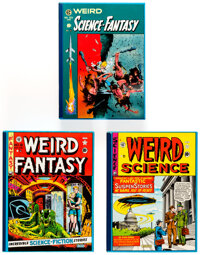 EC Reprint Library Science Fiction Group of 3 (Russ Cochran, 1980s).... (Total: 3 Items)