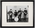 Music Memorabilia:Photos, The Beatles Black and White Photograph by Albert Marion (December 17th, 1961). ...