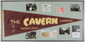 Music Memorabilia:Memorabilia, The Beatles Cavern Club Pennant, Membership Card, and Stone....