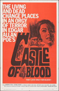 """Castle of Blood (Woolner Bros., 1964). Folded, Very Fine-. One Sheet (27"""" X 41""""). Horror"""