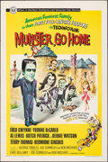 "Movie Posters:Comedy, Munster, Go Home (Universal, 1966). Folded, Very Fine-. One Sheet (27"" X 41""). Comedy.. ..."