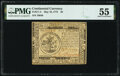 Continental Currency May 10, 1775 $5 PMG About Uncirculated 55
