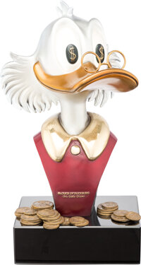 "Carl Barks - Uncle Scrooge ""McDuck of Duckburg"" Limited Edition Bronze Statue #40/50 (Walt Disney, 1997)"
