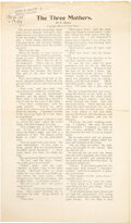 Books:Manuscripts, Edith Nesbit. The Three Mothers Copy Used to Secure American Copyright. Library of Congress, 1908. ...