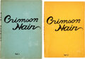 Books:Mystery & Detective Fiction, [Erotica]. Whidden Graham. The Mystery of the Crimson Hairs. New York: [no publisher], 1938. Volumes 1 and 2. ... (Total: 2 Items)