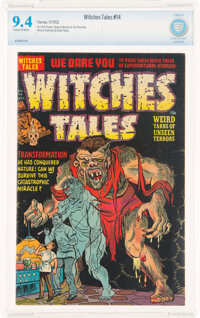 Witches Tales #14 (Harvey, 1952) CBCS NM 9.4 Cream to off-white pages