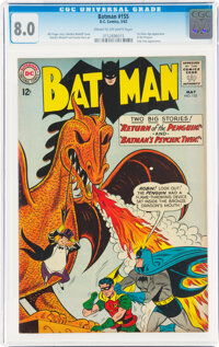 Batman #155 (DC, 1963) CGC VF 8.0 Cream to off-white pages