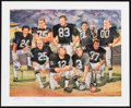 Football Collectibles:Others, Oakland Raiders Legends Multi-Signed Print. ...