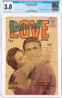 Personal Love #32 (Famous Funnies Publications, 1955) CGC GD/VG 3.0 Off-white to white pages
