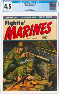 Fightin' Marines #5 (St. John, 1952) CGC VG+ 4.5 Off-white pages