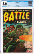 Golden Age (1938-1955):War, Battle #18 (Marvel, 1953) CGC GD/VG 3.0 Off-white to white pages....