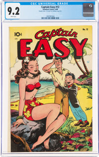 Captain Easy #12 Double Cover (Standard, 1948) CGC NM- 9.2 White pages