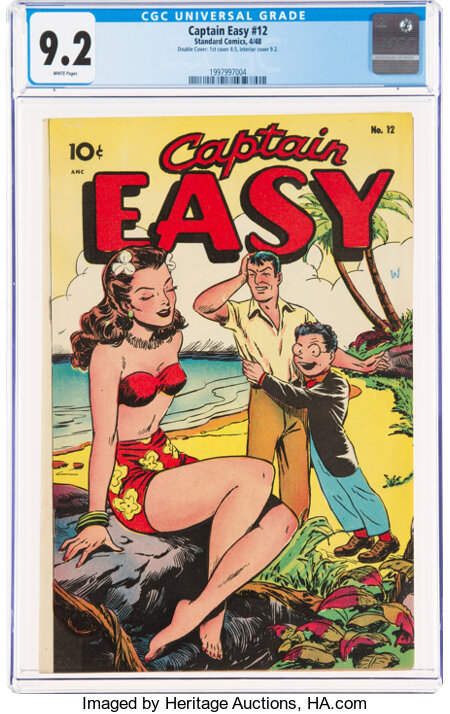 Captain Easy #12 Double Cover (Standard, 1948) CGC NM- 9.2 White pages....