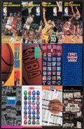 Basketball Collectibles:Publications, 1983-84 to 1994-95 NBA Oversized Schedules Lot of 17....