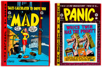 EC Reprint Library MAD/Panic Group of 2 (Russ Cochran, 1980s) Average: FN/VF.... (Total: 2 Items)