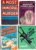 Books:Mystery & Detective Fiction, H. Ashbrook. Lot of Four First Editions. New York and London: [various publishers], 1935-1942.... (Total: 4 Items)
