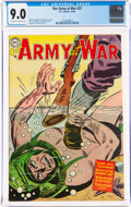 Golden Age (1938-1955):War, Our Army at War #27 (DC, 1954) CGC VF/NM 9.0 Off-white to white pages....