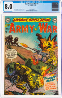 Our Army at War #4 (DC, 1952) CGC VF 8.0 Off-white to white pages
