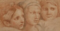 """Works on Paper, After Raphael (19th Century). Three Women, detail from the Raphael's Vatican fresco """"The Expulsion of Heliodorus from the ..."""