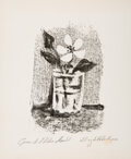Prints & Multiples, Pablo Picasso (1881-1973). Fleurs dans un verre no. 6, from Picasso Lithographer II, 1947. Lithograph on paper. 12-3...