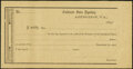 Confederate Notes:Group Lots, Interagency Transfer Receipt Abingdon, VA 1864 Remainder Tremmell VA-25 Extremely Fine-About Uncirculated.. ...