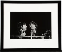 The Beatles Photo Print From Candlestick Park Performance Signed by Photographer