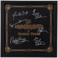 Music Memorabilia:Autographs and Signed Items, Jefferson Airplane Signed Worst Of Vinyl LP Sleeve in Frame....