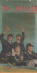 Music Memorabilia:Memorabilia, The Beatles Original Ticker Tape Window Shade (1960's)....